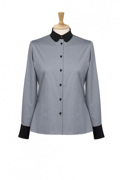 Bespoke Grey Round Collar Blouse  image