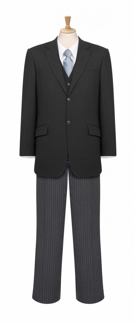 Men's Morning Suit Jacket Waistcoat and Trousers  image