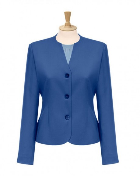 Lille 3 Button Collarless Jacket  image