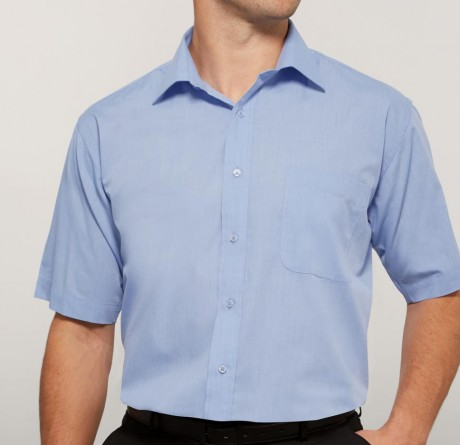 End On End Cutaway Collar Short Sleeved Shirt   image