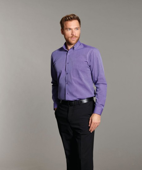 Balloo Long Sleeved End on End Button Down Shirt  image
