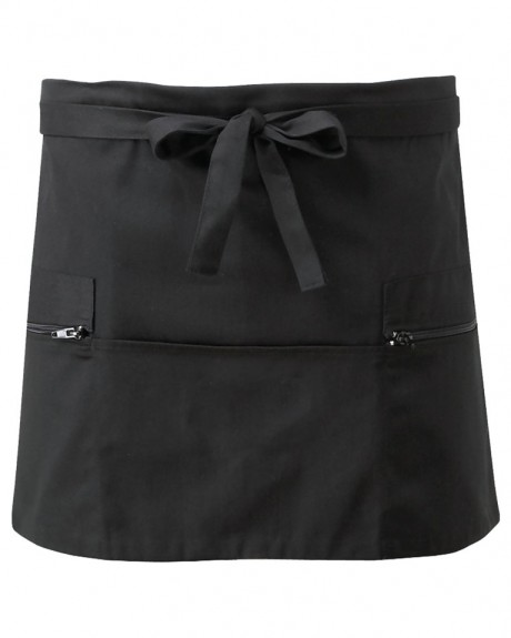 Short Apron With Zip Pockets  image