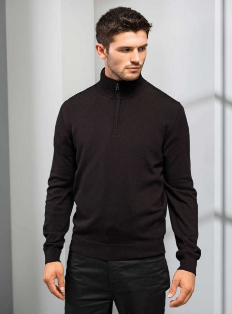 Men's ¼ Zip Knitted Sweater  image