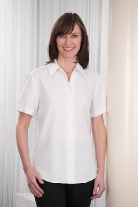 Marseilles Short Sleeve Blouse with Double Button Detail  image