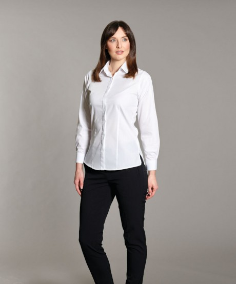 Classic Long Sleeved Fly Front Blouse  image