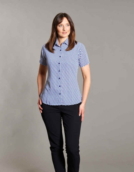 Ava Short Sleeve Print Blouse  image
