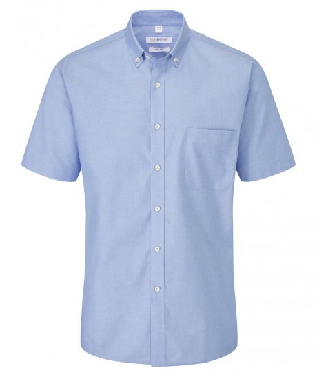 Bray Mens Short Sleeve Slim Fit Oxford Shirt  image