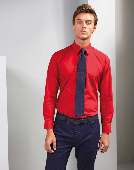 Men's Long Sleeve Slim Fit Poplin Shirt  image