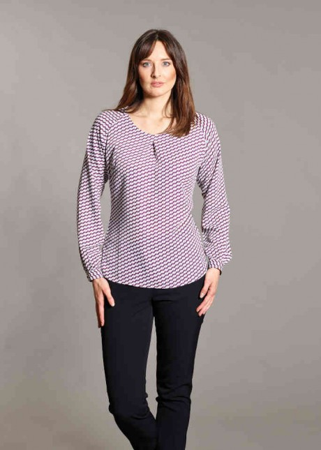 Catriona Long Sleeve Print Blouse  image