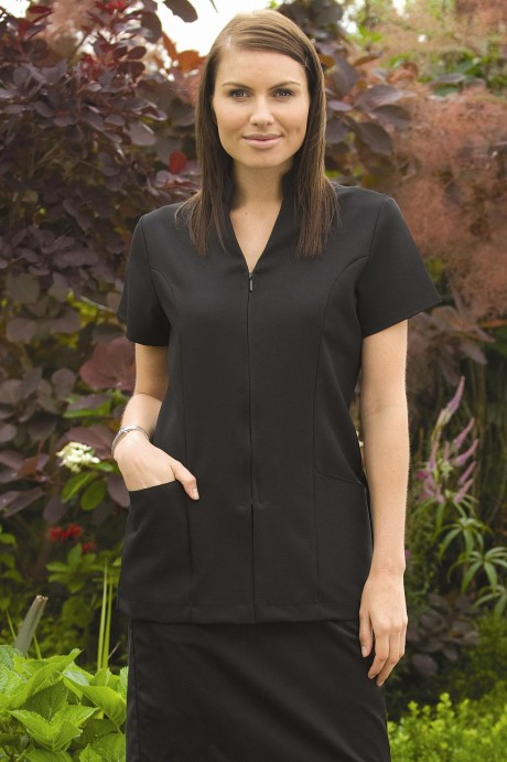 Stand-Collar Zip Front Beauty Tunic  image