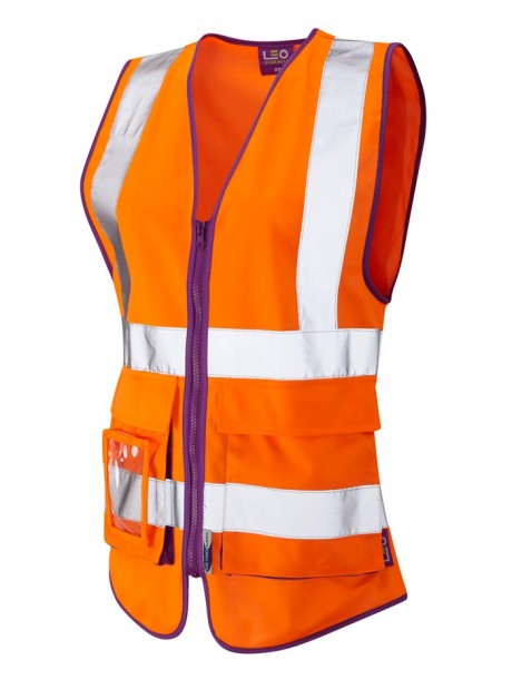 Lynmouth Ladies Superior Orange Waistcoat   image