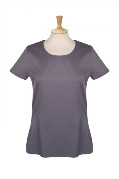 Orly Round Neck Short Sleeve Blouse  image