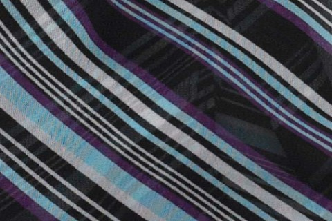 Aqua/Plum Diagonal Stripe (74)