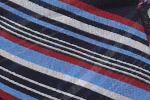 Pale Blue/Red Diagonal Stripe (16)