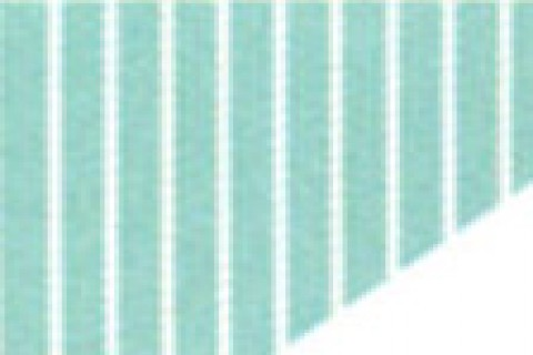 Aqua Stripe/ White Trim (74)